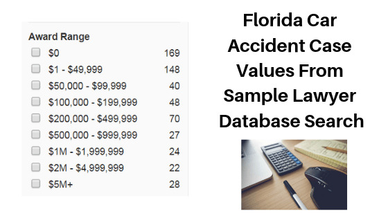 Florida Car Accident Case Values Chart